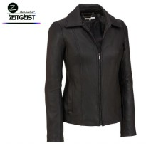 ZEITGEIST FAUX LEATHER BLACK CASUAL JAKET KULIT SINTETIS (BL-67)