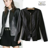 Zeitgeist Faux Leather Women Casual Jaket Kulit Sintetis (JS-035)