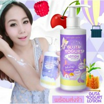 Gluta Yogurt Lotion Original Thailand / Body Lotion 250 ML Milk Honey