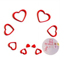 [ LOVE STICKER DINDING ] 3D Wall Sticker Model HEART bahan kayu ringan