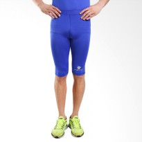 Tiento Baselayer Compression Celana Olahraga Tight Legging Half Pants Blue Silver Original