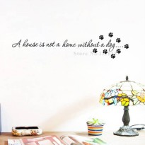 [globalbuy] A House Is Not A Home Without A Dog wall decals vinyl stickers home decor livi/3568958