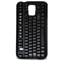 Custom Case Motif Computer Keyboard for Samsung Galaxy S5 Case Casing Cover - Hitam