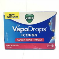 Vicks Vapodrops Cough Nose Throat - Berry Menthol 16 lozenges