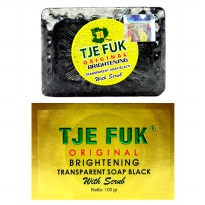 Tje Fuk Original Brightening Transparent Soap Black With Scrub - Hitam - 100gr