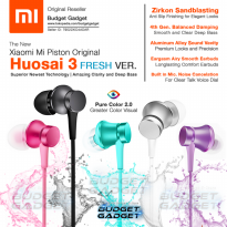 Xiaomi Mi Piston Huosai 3 Earphone Fresh Version ORIGINAL Headset