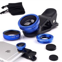 3 IN 1 Fish Eye + Macro + Wide Lens / Lensa Fish Eye + Makro + Wide