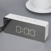 Jam Meja LED Digital Mirror Clock + Temperature - TS-S69
