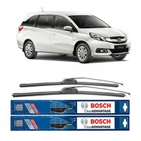 Bosch Sepasang Wiper Mobil Honda Mobilio Frameless New Clear Advantage 22' & 16' - 2 Pcs/Set