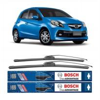 Bosch Sepasang Wiper Mobil Honda Brio Satya Frameless New Clear Advantage 22' & 16' - 2 Pcs/Set