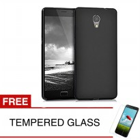 Case for Lenovo Vibe P2 Turbo / P2a42 - Slim Soft Case - Hitam Solid + Gratis Tempered Glass