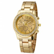Jam Tangan Wanita Geneva Fashion Watch Analog Stainless Steel YQ004