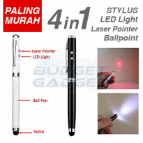 Stylus 4 in 1 Ballpoint + Laser Pointer + Senter