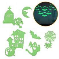 [1+1] Mainan Glow in The Dark Sticker Kamar MEDIUM - Ready Stiker Halloween LIMITED