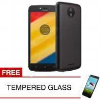 Case for Motorola Moto C 2017 - Slim Soft Case - Hitam Solid + Gratis Tempered Glass