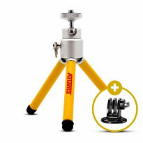 Mini Tripod Attanta M-103A w/ Tripod Mount for GOPRO, BRICA B-PRO & Xiaomi Yi Camera
