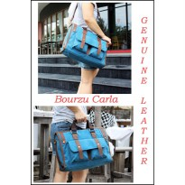 TAS KANVAS SLEMPANG BOURZU CARLA 2 IN 1 Genuine Leather
