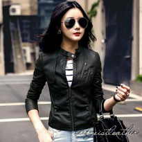 Zeitgeist Women Leather Stylish Jaket Kulit Sintetis (JS-076)