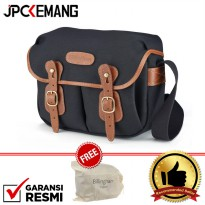 Billingham Hadley Small Black Tan 100% Handmade In England GARANSI RESMI