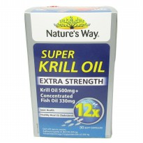 Natures Way Super Krill Oil dan Fish Oil Extra Strength 30 Caps
