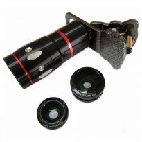 Lesung Universal Cat Clip Fisheye with 10X Zoom Telephoto Lens Clip