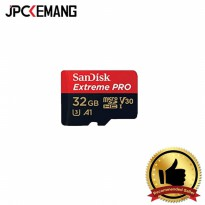 SANDISK EXTREME PRO MICRO SDHC UHS-I U3 32GB READ 100MB/S, WRITE 90