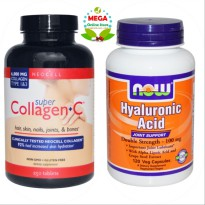 NEOCELL COLLAGEN 250 TABS + NOW HYALURONIC ACIDS 120 VCAPS