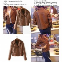 Brown Leather (S,M,L) Jacket -20900