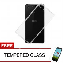 Case For Sony Xperia M5 Aqua / Dual - Clear + Gratis Tempered Glass - Ultra Thin Soft Case