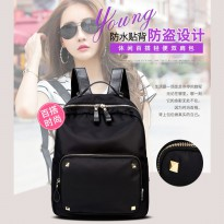 [2 Warna] Atdiva Tas Ransel Fashion Import Unisex Four Stud Aksen