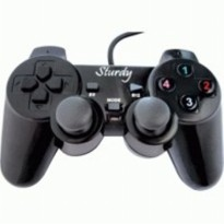 Sturdy Stick Single Analog Getar HITAM