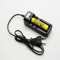 Charger Baterai 26650 18650 1 Slot with LED Indicator - HG-105LIX