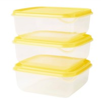[IKEA] Pruta Kuning 3 pc Toples Penyimpanan Makanan Plastik BPA Free Food Container Kotak Lunch Box