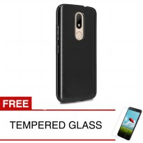 Case for Motorola Moto M / XT1663 - Slim Soft Case - Hitam Solid + Gratis Tempered Glass