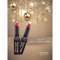 [SALE BUY 1 GET 1 FREE] City Color Matte Lipstick