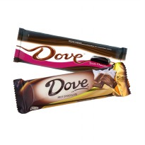 [1+1] Cokelat Dove Milk & Dark Chocolate 43 Gr Promo Buy One Get One