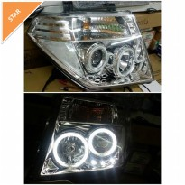 DS613-BOW2C- HEAD LAMP- PROJECTOR CHROME- NISSAN FRONTIER NAVARA
