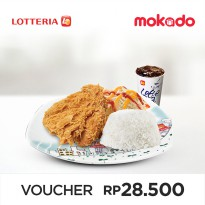 [LOTTERIA] Crispy Chicken Rice Set B