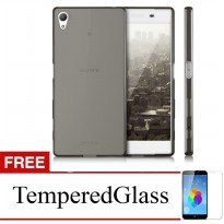 Case For Sony Xperia Z3 - Abu-abu + Gratis Tempered Glass - Ultra Thin Soft Case