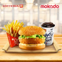 [LOTTERIA] Shrimp Burger Set