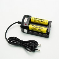 Charger Baterai 26650 18650 2 Slot with LED Indicator - HG-1206Li