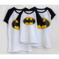 Kaos Family 3in1  BATMAN, SUPERMAN (ayah Ibu dan 1 anak)