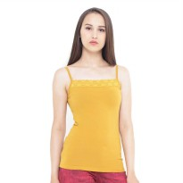 Mobile Power Ladies Brocade Combination Tanktop - Yellow Gold A6806
