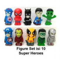 Action Figure Pajangan Super Hero Heroes Marvel Avengers Chibi Hulk Iron Man Thing Wolverine Captain America Thor Spiderman dll