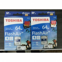 TOSHIBA FLASH AIR 64GB SD CARD WIFI WIRELESS MEMORY KAMERA 64 GB ORI