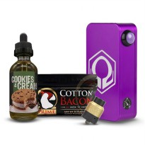 HEXOHM V3 Purple+Thugnation Gold+Prime Cotton+Raja Brewery Cookies and Cream