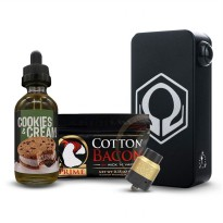HEXOHM V3 Black+Thugnation Gold+Prime Cotton+Raja Brewery Cookies and Cream
