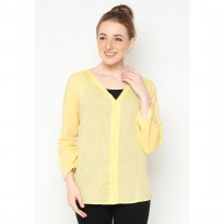 Mobile Power Ladies Long Sleeve Blouse - Yellow Z8264