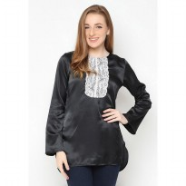 Mobile Power Ladies Long Sleeve Blouse - Black E8294