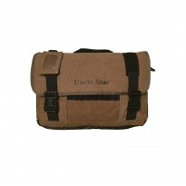Uncle Star Men Canvas Messenger Bag Practical Multi-Pocket Tool Bags / Tas Laptop Pria Kanvas